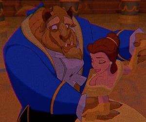 beauty and the beast, disney, and 🌺 image
