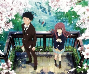 anime, koe no katachi, and a silent voice image