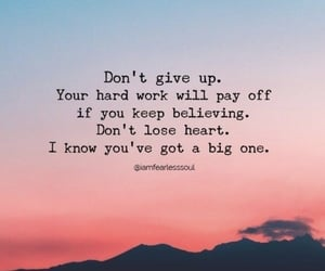 don't give up, quote, and quotes image