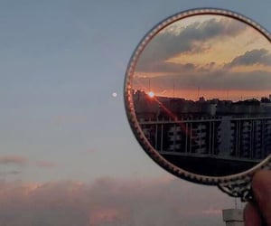 aesthetic, sky, and mirror image