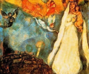 angel, blue, and madonna image