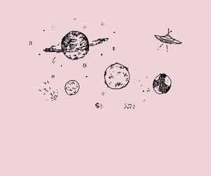 pink and planets image