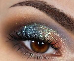 eye, makeup look, and eye look image
