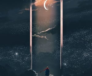 Dream, moon, and moonlight image
