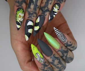 beetlejuice and nails image