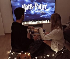 couple, harry potter, and movie image