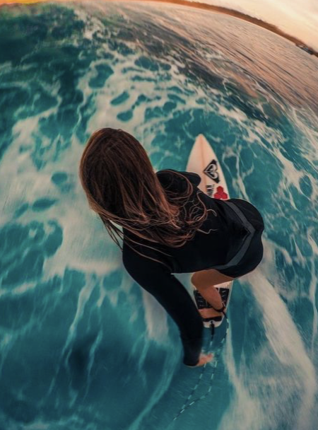 girl, surf, and summer image