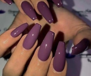 mauve, nails, and purple image