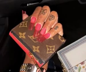nails, baddie, and red image