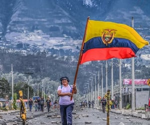 ecuador, protest, and quito image