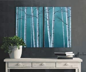 etsy, canvas wall art, and diptychpainting image