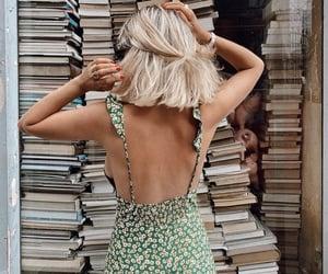 girl, books, and fashion image