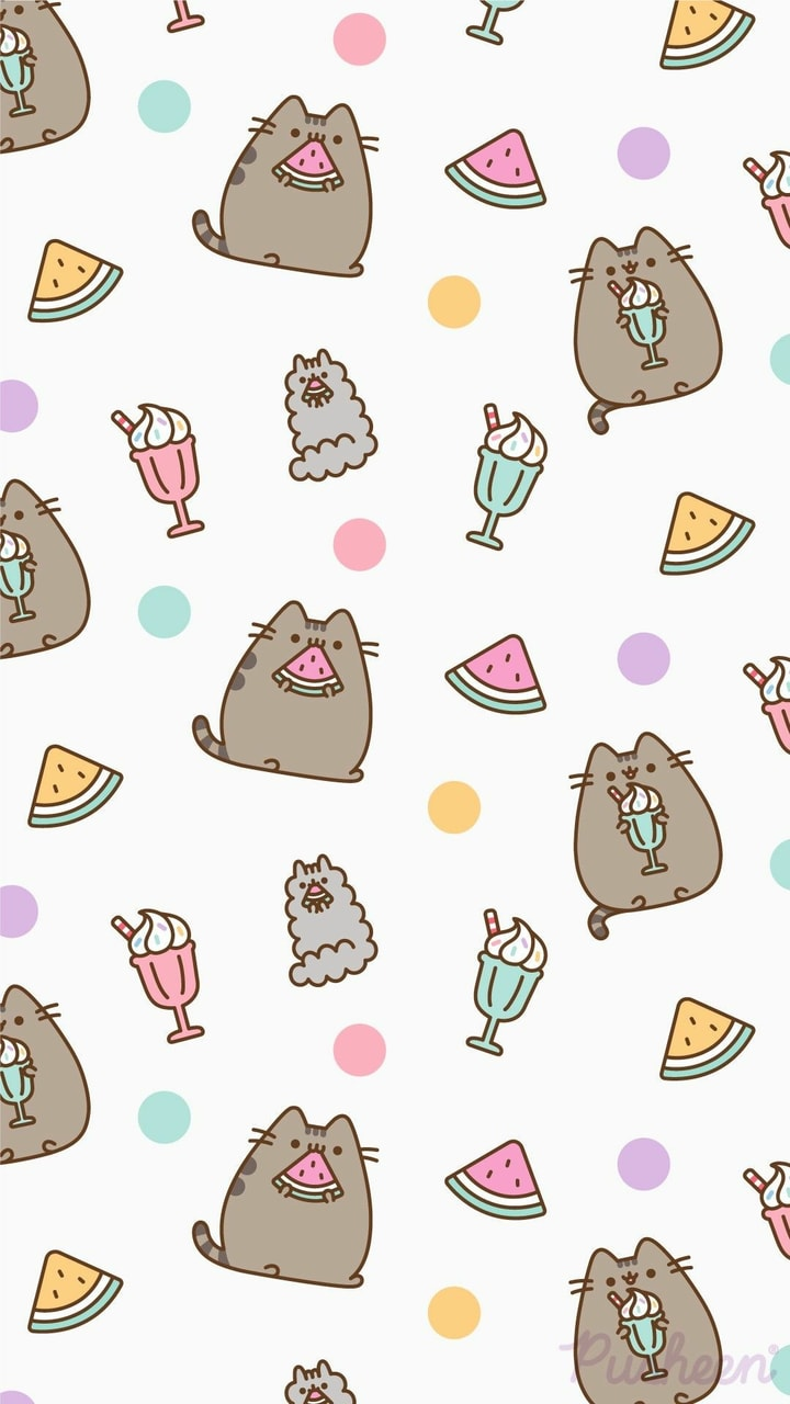 Pusheen wallpaper discovered by