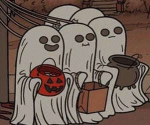 cartoon, ghost, and Halloween image