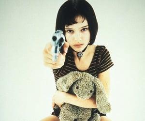 natalie portman, leon, and gun image