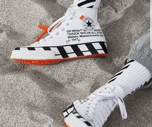 all star, off white, and shoes image