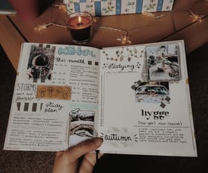 journaling, bullet journal, and october monthly spread image
