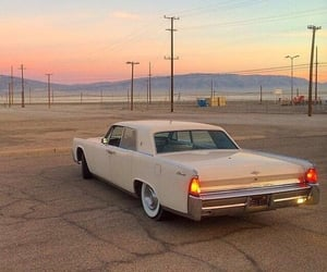car, vintage, and sunset image