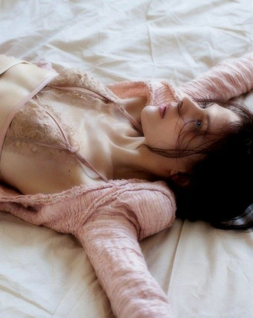 pink, tired, and woman image