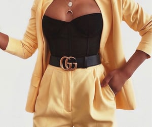 black top, fashion, and girl image