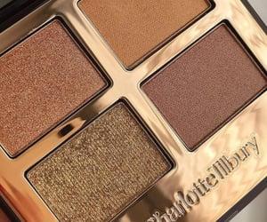 eyeshadow, makeup, and gold image