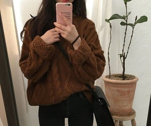 fashion, brown, and girl image