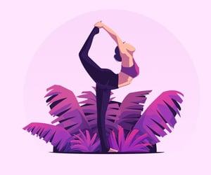 art, yoga, and yogi image
