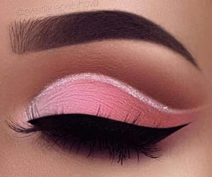 makeup, pink, and beauty image