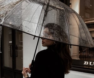 girl, rain, and fashion image