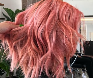 coral hair color and pastel coral hair color image