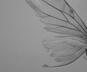 aesthetic, black and white, and fairy image
