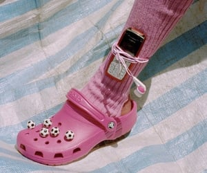 90s, crocs, and pink image
