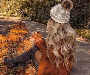 autumn, girl, and fashion image