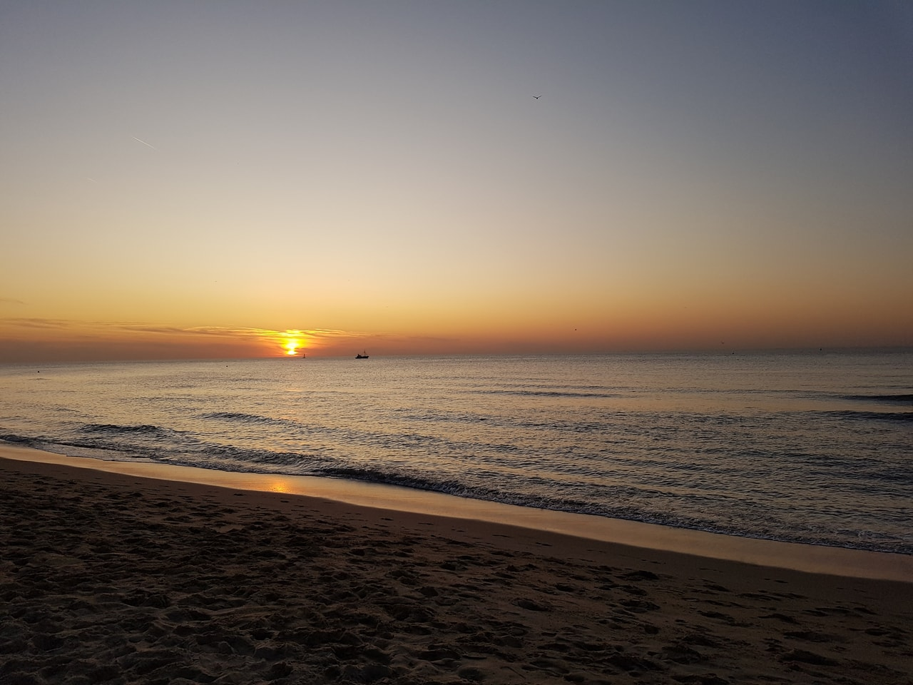 beach, romantic, and sand image