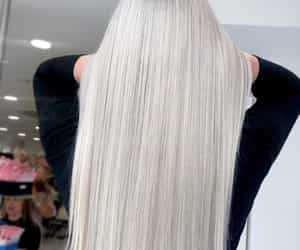 blonde hair, white hair, and ice hair image