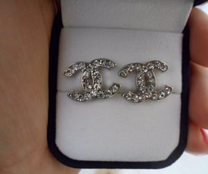 chanel, earrings, and diamond image