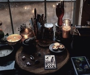 witch, candle, and aesthetic image