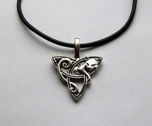 etsy, celtic fox pendant, and animal jewelry image