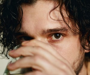 aesthetic, brown eyes, and jon snow image