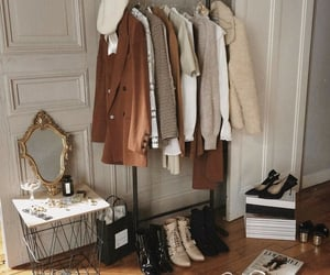 beauty, coat, and accessories image