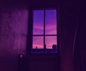 aesthetic, purple, and sunset image