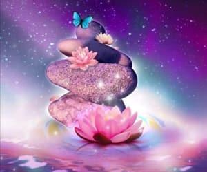 lotus, purple, and cute image