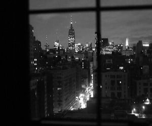 black and white, city, and new york image