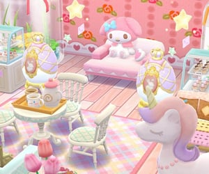 animal crossing, sanrio, and pocket camp image