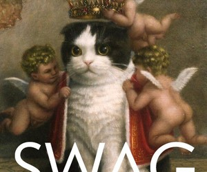cat, swag, and angel image