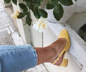 yellow, fashion, and jeans image