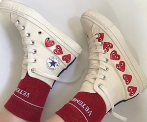 shoes, converse, and red image