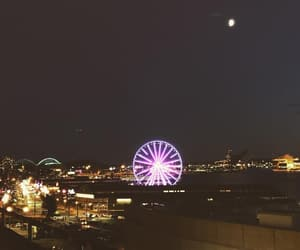 city, pier, and seattle image