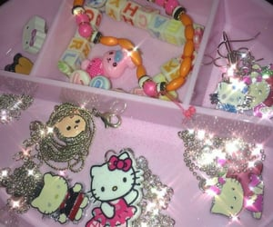 hello kitty, jewelry, and pink image