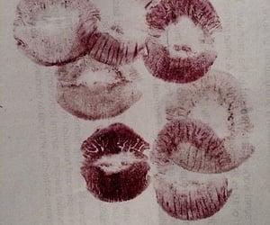 lipstick, kiss, and lips image